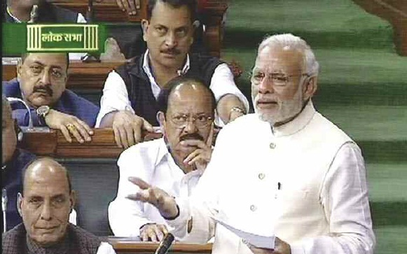 Narendra Modi In Parliament