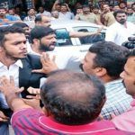 Lawyers and journalists engage in fisticuffs at the Kerala High Court in Kochi
