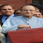 Arun Jaitley leaving North Block for Parliament to present the Union Budget 2016-17. Photo: UNI