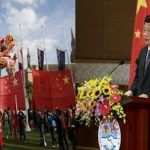 Chinese President Xi Jinping gives a speech at a meeting with Vietnamese and Chinese Communist youths in Hanoi