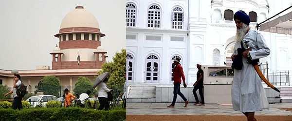 Supreme Court (Photo: Anil Shakya); An Amritdhari Sikh (Photo: Kh Manglembi Devi)