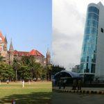 (L-R) Bombay High Court and SEBI headquarters in Mumbai