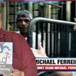(L-R) Once feted for his achievements, Michael Ferreira has been arrested for fraud. A TV grab shows him being taken into custody