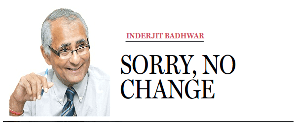 Sorry, No Change (Inderjit Badhwar)