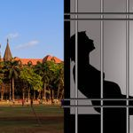 (L-R) Bombay High Court; a silhouette portraying pregnant woman in jail. Illustration: Rajender Kumar