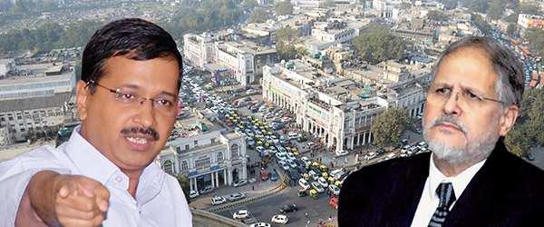 Delhi Chief Minister Arvind Kejriwal (left) and Lt-Governor of Delhi, Najeeb Jung (right). Photo: UNI