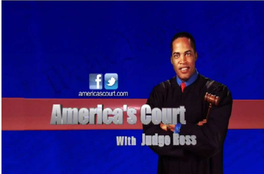A TV grab of the America's Court with Judge Ross