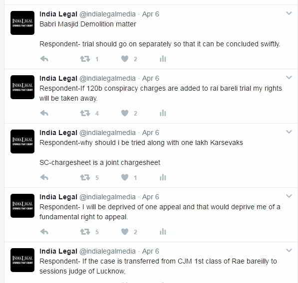 India Legal twitter handle did multiple tweets breaking the story on April 6