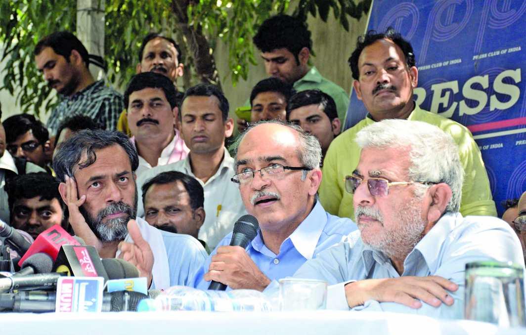 AAP had split after Kejriwal expelled founder members Yogendra Yadav and Prashant Bhushan