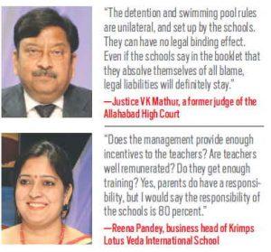 L-R Justice VK Mathur and Reena Pandey