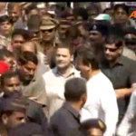 Rahul Gandhi embarks on a padyatra in Bandra, Mumbai today