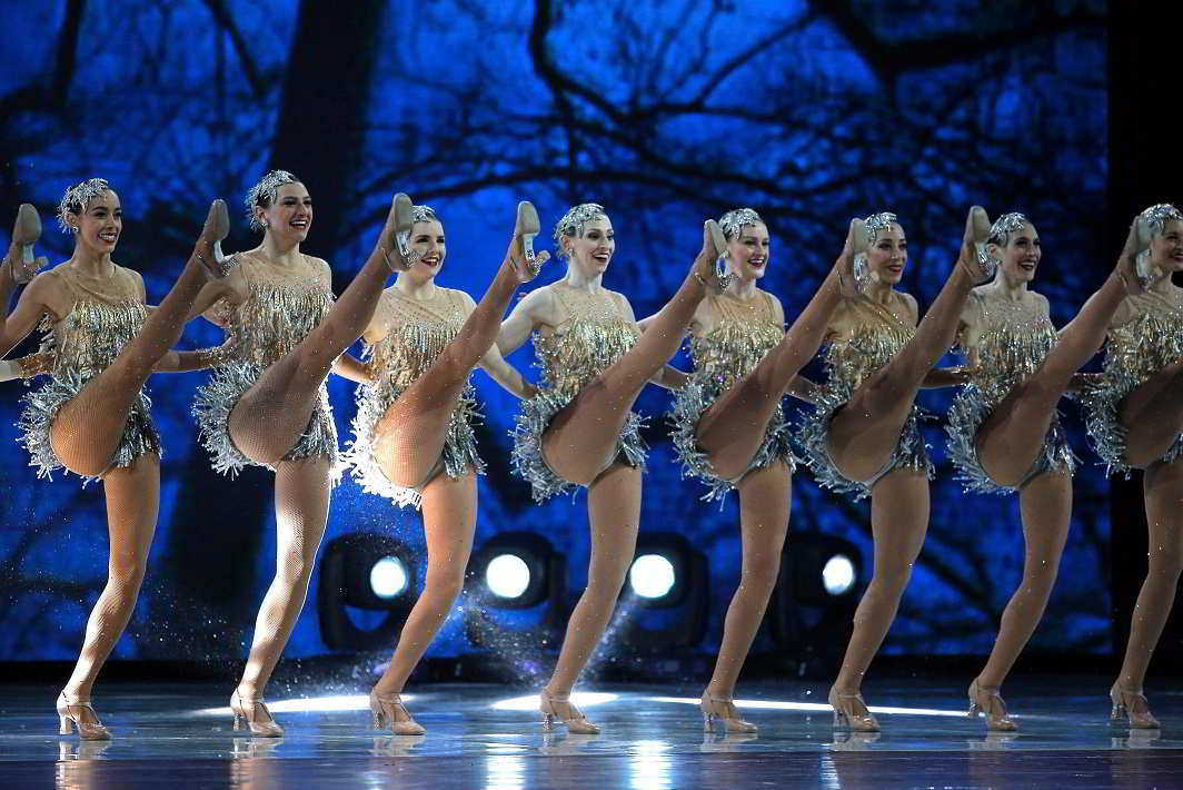 """12. Welcoming their President- The Radio City Music Hall """"Rockettes"""" perform at the """"Liberty"""" Inaugural Ball held for U.S. President Donald Trump and his wife, first lady Melania Trump, in Washington, U.S., January 20, 2017. REUTERS-15R"""
