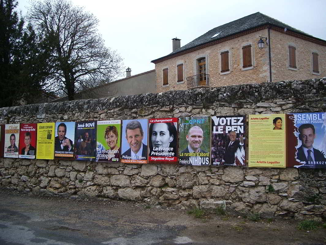 Posters from the presidential election 2007
