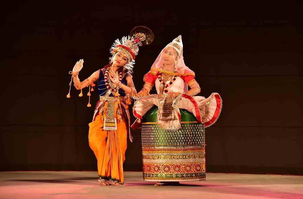 AMAZING GRACE: A Manipuri Rasa Leela dance performance by Sinam Basu Singh and her team at the Guru Gopinath National Dance Festival in Thiruvananthapuram on February 9, UNI