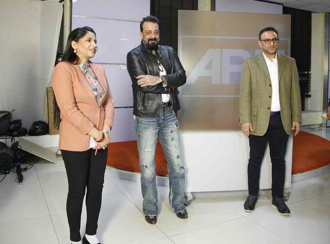 Dutt with Pradeep and Rajshri Rai