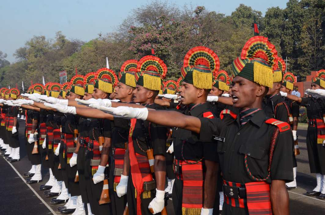 DRAFTED: Young soldiers of Bihar regiment take oath during Attestation Parade of Bihar Regimental Center at Danapur Cantonment in Patna, UNI