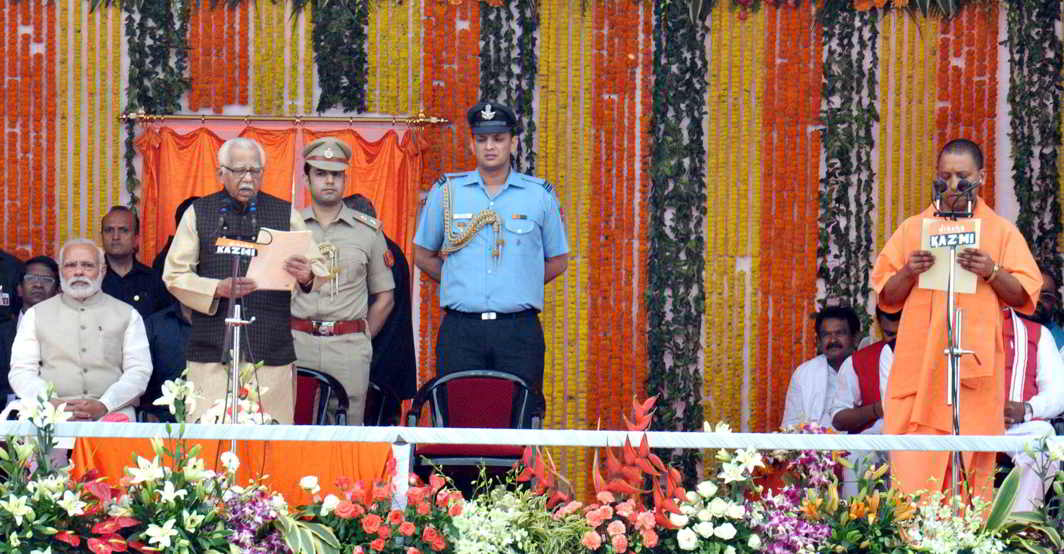 MP TO CM: Governor Ram Naik administers the oath of office and secrecy to the new chief minister