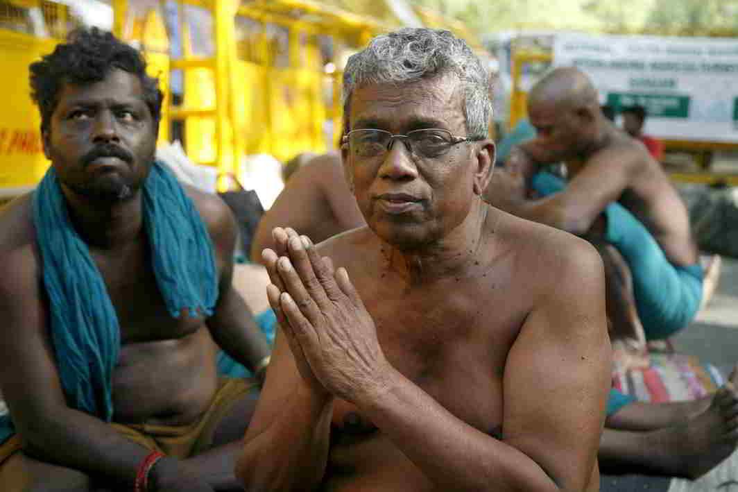 AT THE HELM: Ayyakkannu, the leader of the stir