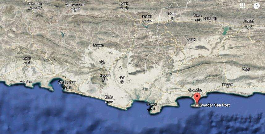 AN OVERVIEW: A map pinpointing the locations of Chabahar and Gwadar ports