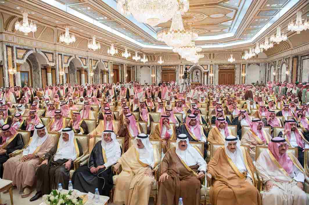 MORE LOYAL THAN THE KING? Members of Saudi Arabia's royal family and dignitaries attend an allegiance pledging ceremony for Saudi Arabia's Crown Prince Mohammed bin Salman in Mecca, Saudi Arabia, Bandar Algaloud/Courtesy of Saudi Royal Court/Reuters/UNI