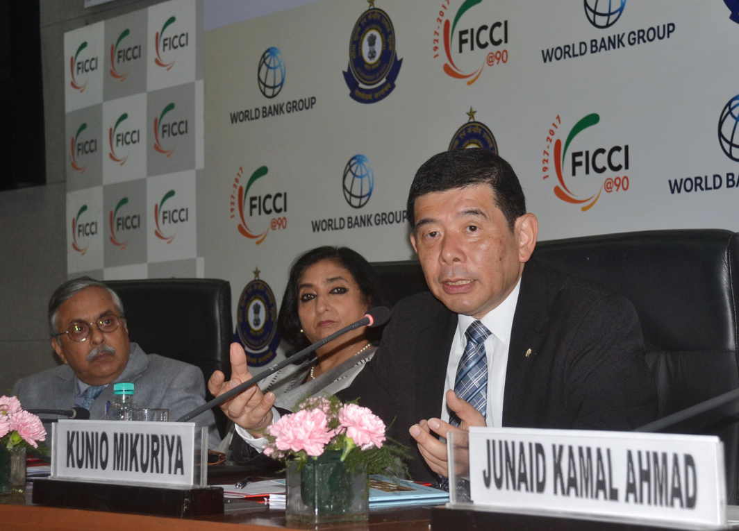 STRENGTHENING TIES: Kunio Mikuriya, Secretary General, World Customs Organization (WCO), addresses the conference on Trade Facilitation Agreement: Learning From Implementation Experiences, in New Delhi, UNI