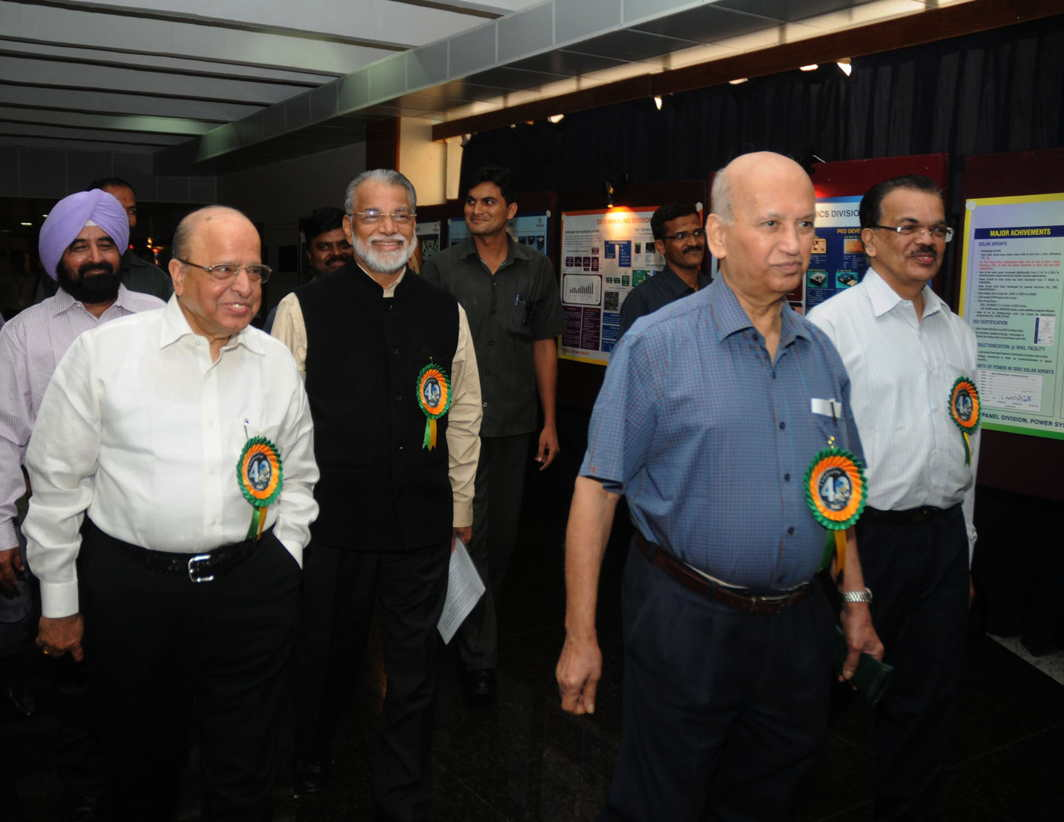 ANOTHER DAY: A file photo of three former ISRO chairmen Prof. UR Rao, K Radhakrishnan and K Kasturirangan attending a function. Prof. Rao who served as ISRO Chairman for 10 years between 1984 and 1994 has died at the age of 85 in his residence in Bengaluru, UNI