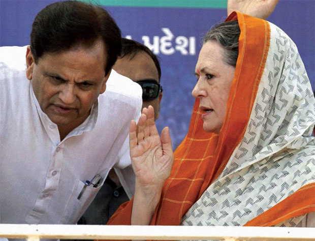 Sonia Gandhi and Ahmad Patel