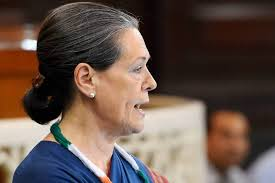 Sonia Gandhi in Lok Sabha