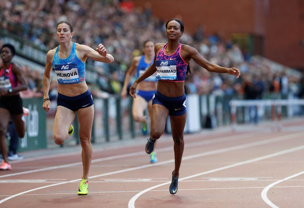 SPEED QUEEN: USA's Dalilah Muhammad wins the women's 400 metres hurdles at the IAAF Diamond League final in Brussels, Reuters/UNI