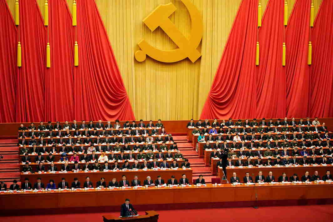 MORE POWER TO XI? Chinese president Xi Jinping speaks during the opening session of the 19th National Congress of the Communist Party of China at the Great Hall of the People in Beijing, China, Reuters/UNI