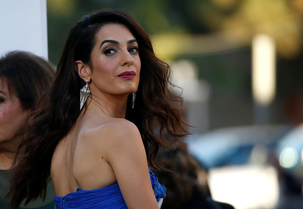 "SPOUSAL APPEARANCE: Amal Clooney attends the premiere for ""Suburbicon"" in Los Angeles, California, US, Reuters/UNI"