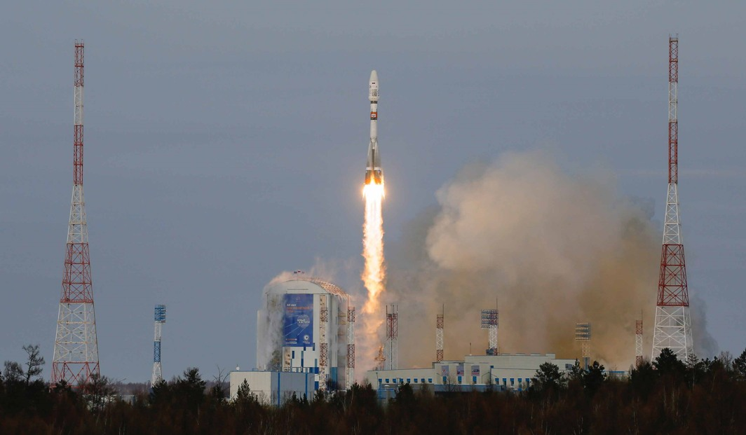 LIFT OFF: The Soyuz-2 spacecraft with Meteor-M satellite and 18 additional small satellites launches from Russia's new Vostochny cosmodrome, near the town of Tsiolkovsky in Amur region, Russia, Reuters/UNI