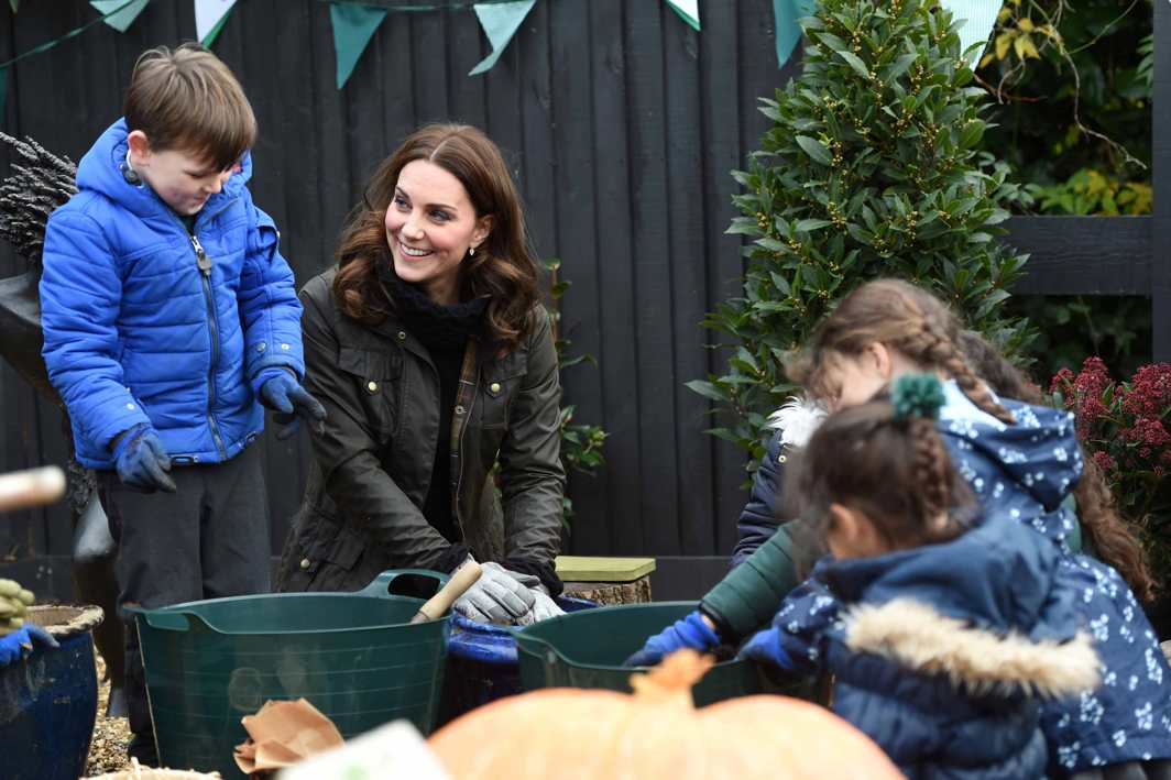 MEET THE DUCHESS: Catherine, the Duchess of Cambridge, visits Robin Hood Primary School in London, Reuters/UNI