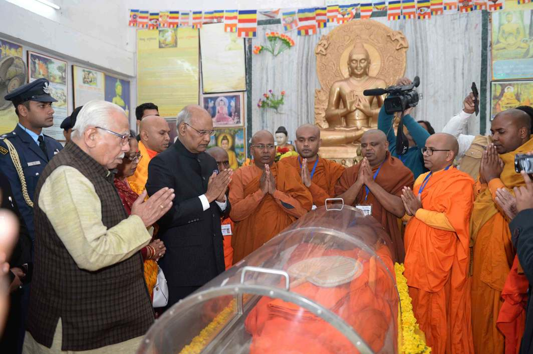 REST IN PEACE: President Ramnath Kovind pays homage to Buddhist monk Bhadant Pragyanandji, in Lucknow, UNI