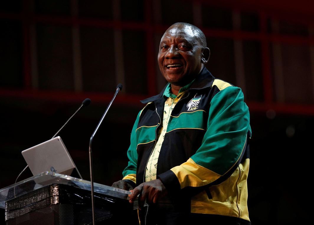 BEACON OF HOPE: Newly-elected president of the African National Congress Cyril Ramaphosa makes the closing address at the 54th National Conference of the ruling ANC in Johannesburg, South Africa, Reuters/UNI