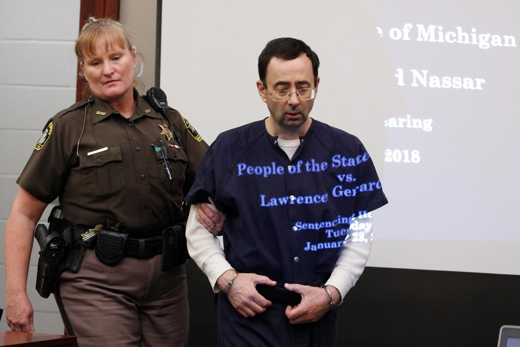 NO REMORSE? Larry Nassar, a former team USA gymnastics doctor, who pleaded guilty in November 2017 to sexual assault charges, returns from a break to listen to victims' testimony in the courtroom during his sentencing hearing in Lansing, Michigan, US, Reuters/UNI