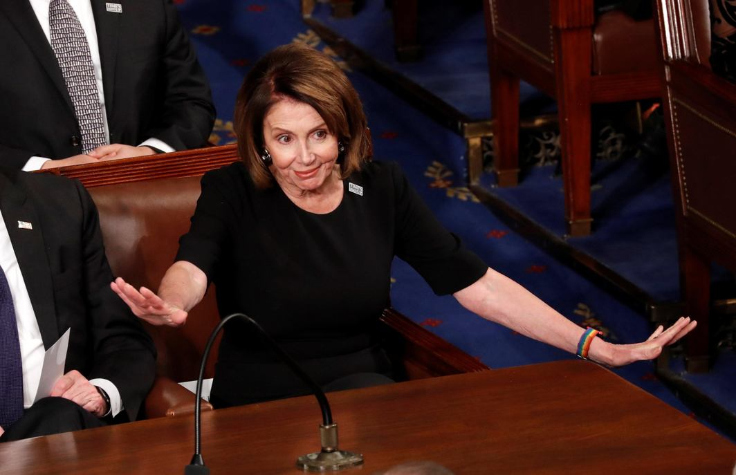 NO COMMENTS: House Minority Leader Nancy Pelosi reacts to US President Donald Trump's State of the Union address to a joint session of the US Congress on Capitol Hill in Washington, US, Reuters/UNI