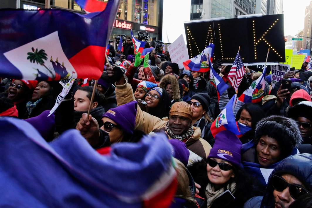 GATHERING DREAMERS: People participate in the Martin Luther King Jr. Day march starting from Times Square in New York City, US, Reuters/UNI