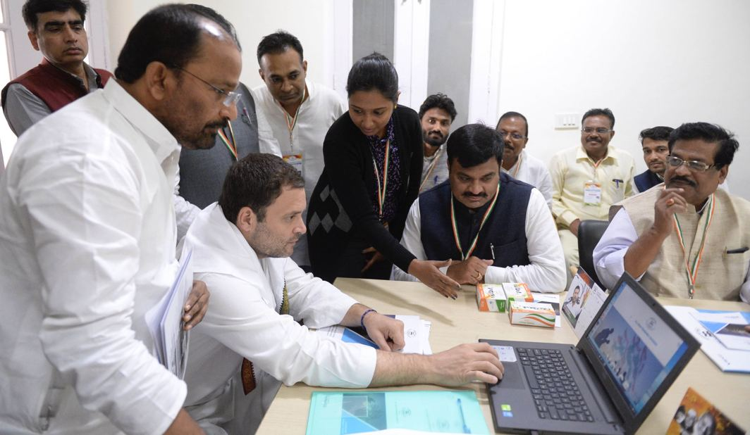 STAND BY YOU: Congress President Rahul Gandhi attends the National Executive of the All-India Fishermen Congress, at the AICC headquarters in New Delhi, UNI