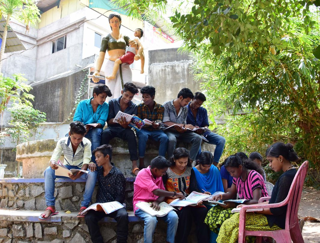 EXAM WARRIORS: Students of Sree Chitra Poor Home ready to appear in the SSLC exams, in Thiruvananthapuram, UNI