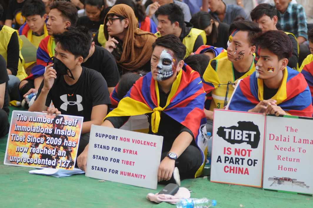 REMEMBER: Members of Regional Tibetan Youth Congress, Bangalore, hold a protest to mark the 59th anniversary of the Tibetan uprising against Chinese rule, in Bengaluru, UNI