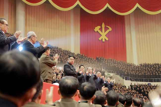 PYONGYANG, DEC 29:- North Korean leader Kim Jong Un attends a performance held for participants of the ruling party's party meeting in this undated picture provided by KCNA in Pyongyang on December 29, 2016. Reuters-3R