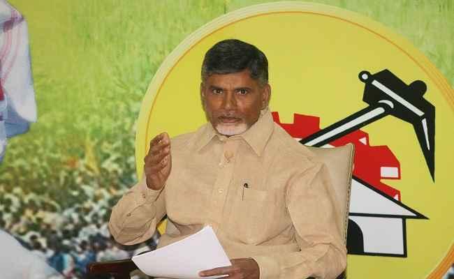 Telugu Desam Party (TDP) president N. Chandrababu Naidu during a press conference in Hyderabad on Nov.13, 2013. (Photo: IANS)