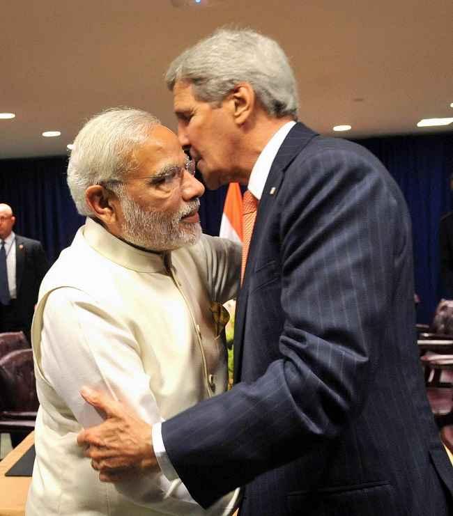 Modi meets the United States Secretary of State John Kerry